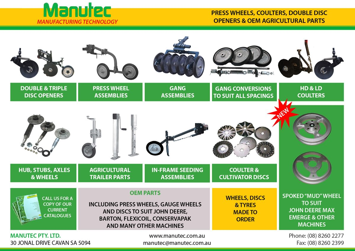 Manutec expands range of seeding components