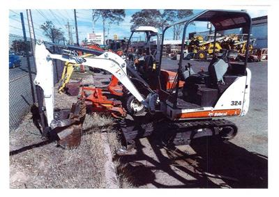 Used Bobcat 324 mini excavator