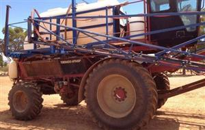 Photo 4. Case IH cotton picker chassis SP boomspray